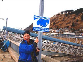 CWC2 Blog Rex with Tsunami sign _Resize
