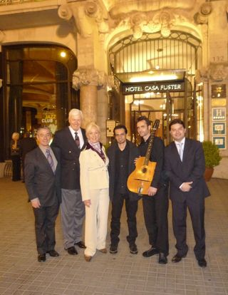 CWC3 Casa Fuster with managers and guitarists